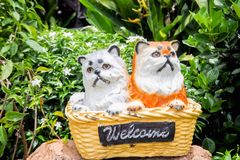 Kitty statuette Stock Photography
