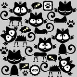 Kitty stickers collection Royalty Free Stock Photography