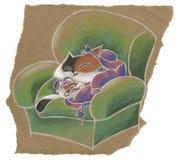 Kitty sur le fauteuil Photographie stock