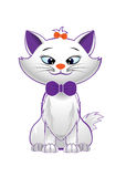 Kitty. Vector cute kitty character on white background Royalty Free Stock Image
