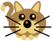 Kitty. Vector drawing of a simple kitty Royalty Free Stock Photo