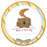 Kitty wishes you a nice day Royalty Free Stock Photography