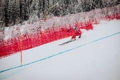 KitzbÃ-¼ Hel Hahnenkamm abschüssiger Ski Race stockbild