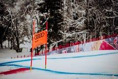 KitzbÃ-¼ Hel Hahnenkamm abschüssiger Ski Race stockfoto