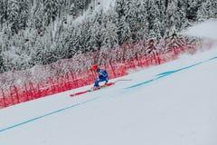 Kitzbà ¼hel Hahnenkamm sluttande Ski Race royaltyfria bilder