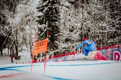 Kitzbühel Hahnenkamm Downhill Ski Race royalty free stock photo