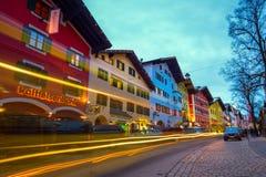 KITZBUEHEL, AUSTRIA - FEBRUARY 15, 2016- View of historic city Stock Photo