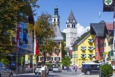 Kitzbuhel Österrike Arkivfoto