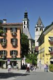 Kitzbuhel. The view on the square in the centre of Kitzbühel alpine town in Tirol - Austria Stock Images