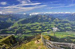 Kitzbuhel Alps in Tyrol, Austria. A panoramic view from the summit of the Kitzbuheler Horn in Austrian Alps Royalty Free Stock Images