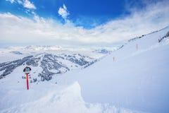Kitzbuhel ośrodek narciarski, Austria, Europa Obraz Royalty Free