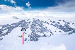 Kitzbuhel ośrodek narciarski, Austria, Europa Fotografia Royalty Free