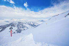 Kitzbuhel ski resort, Austria, Europe. Royalty Free Stock Image