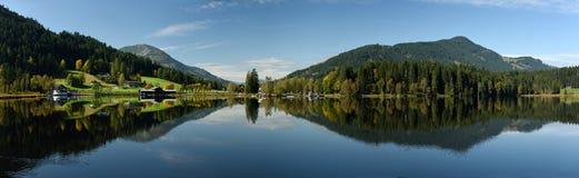Kitzbuheler垫铁& Schwarzsee,提洛尔,奥地利 免版税库存照片