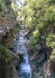 Kitzlochklamm峡谷在奥地利 免版税库存照片