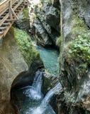 Kitzlochklamm峡谷在奥地利 免版税图库摄影