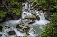 Kitzlochklamm dalgång 2, Taxenbach, Österrike fotografering för bildbyråer