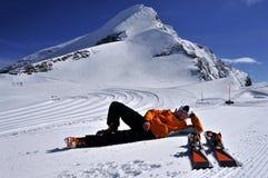 Kitzsteinhorn滑雪场,Salzburger土地,奥地利 免版税库存图片