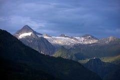 Kitzsteinhorn - Kaprun滑雪胜地,奥地利 免版税图库摄影