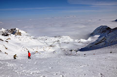 Kitzsteinhorn ski resort, Austrian Alps royalty free stock photos