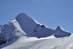 Kitzsteinhorn Ski Resort, Salzburger land, Österrike royaltyfria bilder