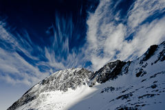 Kitzsteinhorn skies Royalty Free Stock Image