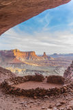 Kiva Canyonlands Vertical Shot faux Image stock