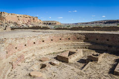 Kiva in Chaco Canyon Stock Image