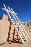 Kiva ladder. Inside Acoma Pueblo in New Mexico royalty free stock images