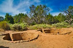 Kiva Ruins på Mesa Verde royaltyfri bild
