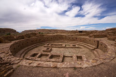 Kiva Ruins at Pueblo Bonito. Chaco Culture National Historical Park stock image