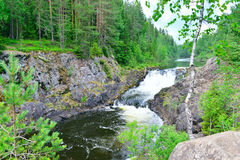 Kivach瀑布 库存图片