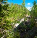 Kivach casdade waterval Stock Afbeeldingen