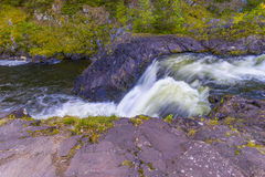 Kivach Falls. Is a 10.7-m-high cascade waterfall in Russia. It is located on the Suna River in the Kondopoga District, Republic of Karelia and gives its name to Stock Photography