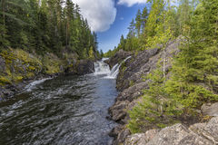 Kivach Falls Royalty Free Stock Photos
