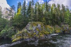 Kivach Falls Royalty Free Stock Photo