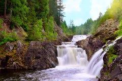 Kivach vattenfall Arkivbilder