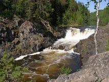 Kivach waterfall Royalty Free Stock Image