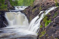 Kivach waterfall Royalty Free Stock Photography