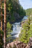 Kivach waterfall in natural reserve,  Karelia, Russia Stock Photo