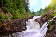 Kivach waterfall Stock Images