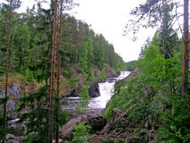 Kivach waterfall Stock Photo