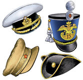 Kiver amontonó la figura enarbolada casquillo del infante de marina del casquillo del sombrero Imagenes de archivo