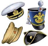 Kiver cocked hat cap peaked cap marine figure. Kiver cocked hat cap peaked cap marine military headdress mens visor sultan figure Stock Images