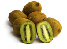 Kivi fruit isolated on white background Stock Photo