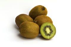 Kivi fruit isolated on white background Royalty Free Stock Photos