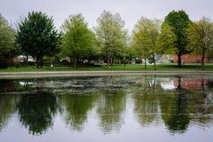 Kiwanis Lake, in York, Pennsylvania. Royalty Free Stock Photo