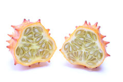 Kiwano cut in half Royalty Free Stock Photos