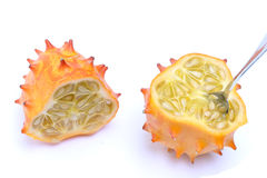 Kiwano cut in half Royalty Free Stock Photography