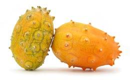 Kiwano gehörnte Melonefrucht Lizenzfreie Stockbilder